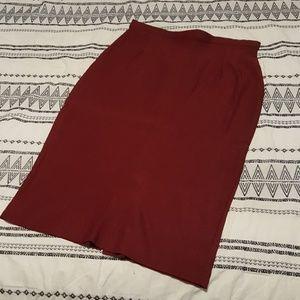 Burgundy pin-up skirt